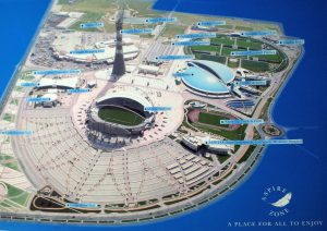 Übersichtskarte Aspire Academy Katar