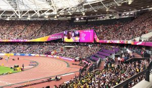 Das letzte 100m Rennen von Usain Bolt vor vollbesetzten Zuschauerrängen im Olympiastadion London
